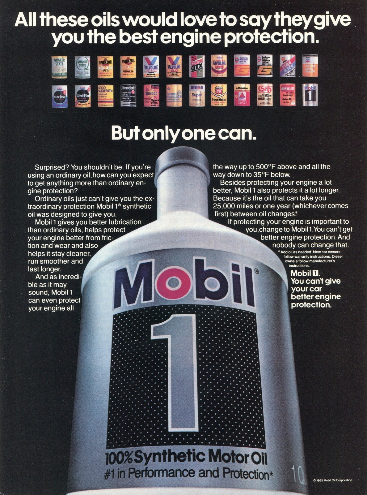 Mobil 1 comparison to synlube for What is the best motor oil to use